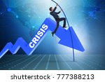 businessman pole vaulting over...   Shutterstock . vector #777388213