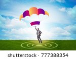 young businessman falling on... | Shutterstock . vector #777388354