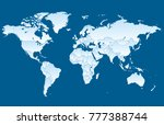 color world map vector | Shutterstock .eps vector #777388744