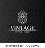 vintage logo decor label... | Shutterstock .eps vector #77738941