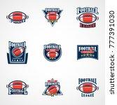 set of american football logo... | Shutterstock .eps vector #777391030
