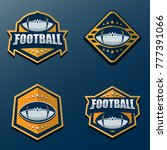 set of american football logo... | Shutterstock .eps vector #777391066