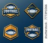set of american football logo... | Shutterstock .eps vector #777391066