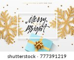 christmas background with gifts ... | Shutterstock . vector #777391219