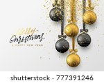christmas greeting card  design ... | Shutterstock . vector #777391246