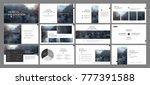 minimal black presentation... | Shutterstock .eps vector #777391588