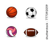 Set Of Sport Balls Design