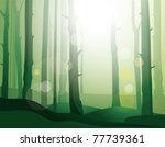 enigmatic  forest. eps10 | Shutterstock .eps vector #77739361