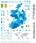 ireland infographic map and... | Shutterstock .eps vector #777393838