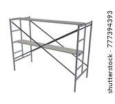 scaffolding metal construction... | Shutterstock . vector #777394393