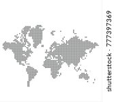 pixel map of world. vector...