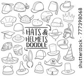 hats   helmets accessories... | Shutterstock .eps vector #777398068