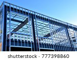 steel frame work of new... | Shutterstock . vector #777398860
