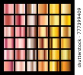rose gold gradient collection... | Shutterstock .eps vector #777399409