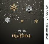 christmas poster invitation... | Shutterstock .eps vector #777399424