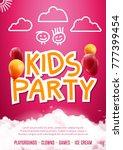 kids party art flyer design....   Shutterstock .eps vector #777399454