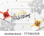 christmas background with gifts ... | Shutterstock . vector #777401929