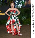 "Small photo of LOS ANGELES, CA - December 11, 2017: Meg Donnelly at the Los Angeles premiere of ""Jumanji: Welcome To the Jungle"" at the TCL Chinese Theatre"