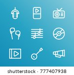 melody icon line set with...   Shutterstock .eps vector #777407938