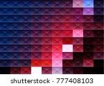 grid mosaic background ... | Shutterstock .eps vector #777408103