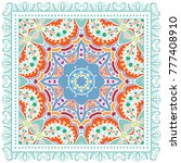 decorative colorful ornament on ... | Shutterstock .eps vector #777408910