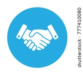 business handshare icon. done... | Shutterstock .eps vector #777410080