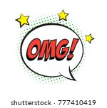 retro comic speech bubble with...   Shutterstock .eps vector #777410419