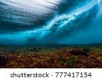 underwater view of the surf... | Shutterstock . vector #777417154
