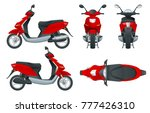 trendy electric scooter ... | Shutterstock .eps vector #777426310