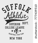 new york college athletic... | Shutterstock .eps vector #777439510
