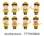 cute people professional set | Shutterstock .eps vector #777443860