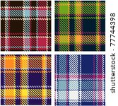 set of seamless checkered... | Shutterstock .eps vector #77744398