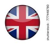united kingdom flag in glossy... | Shutterstock .eps vector #777448780