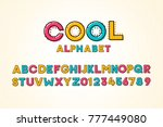 vector modern cool pop font and ... | Shutterstock .eps vector #777449080