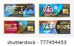 set of vector brochure flyer... | Shutterstock .eps vector #777454453