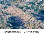 Airplane view of Velletri (or Velitrae). It is an Italian comune in the Metropolitan City of Rome, on the Alban Hills, in Lazio, central Italy