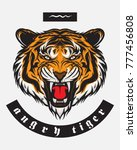 angry tiger. mascot. vector...   Shutterstock .eps vector #777456808