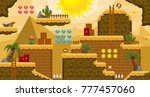 set of tiles and objects for...   Shutterstock .eps vector #777457060