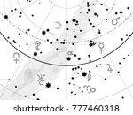 fragment of astronomical... | Shutterstock .eps vector #777460318