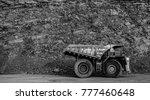 dump truck in coal mine  black... | Shutterstock . vector #777460648