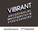 vector of bold colorful font... | Shutterstock .eps vector #777466660