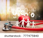 family cut out  medical... | Shutterstock . vector #777475840