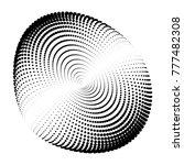 circular halftone abstract... | Shutterstock .eps vector #777482308