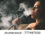 closeup young  beautiful girl... | Shutterstock . vector #777487030