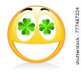 st. patrick's day   emoji | Shutterstock . vector #777487324