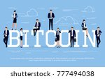 bitcoin. business concept in a... | Shutterstock . vector #777494038