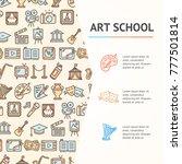 art school concept infographics ...   Shutterstock .eps vector #777501814