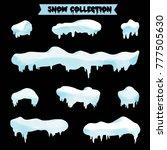 snow collection vector | Shutterstock .eps vector #777505630