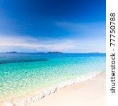 tropical sandy beach malcapuya...   Shutterstock . vector #77750788
