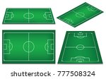 soccer field collection.... | Shutterstock .eps vector #777508324